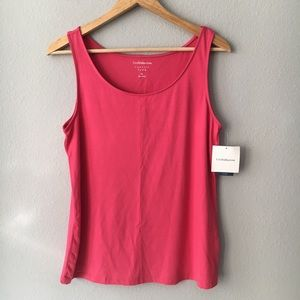 Croft & Barrow Classic Tank Top Size Med Pink NWT